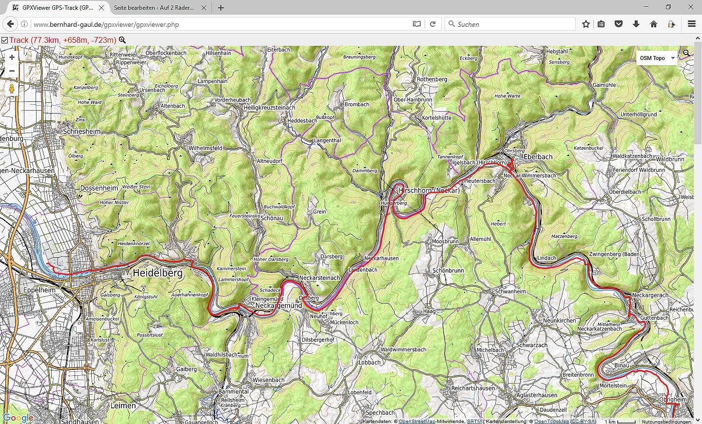 Neckarradweg Karte.Sechster Tag Sonntag 18 09 2016 Gundelsheim Heidelberg Auf 2